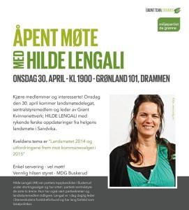 Hilde Lengali 30.april 2014 - Buskerud MDG - De Grønne - Grønland 101
