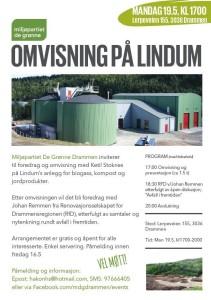 Drammen MDG (De Grønne) inviterer til omvisning med RFD på Lindum i Drammen